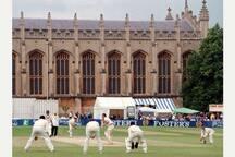 The Cheltenham cricket festival. Pimms anyone?