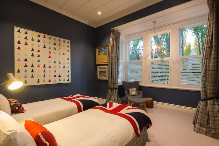 Bedroom two is a twin room that can be configured as a super king