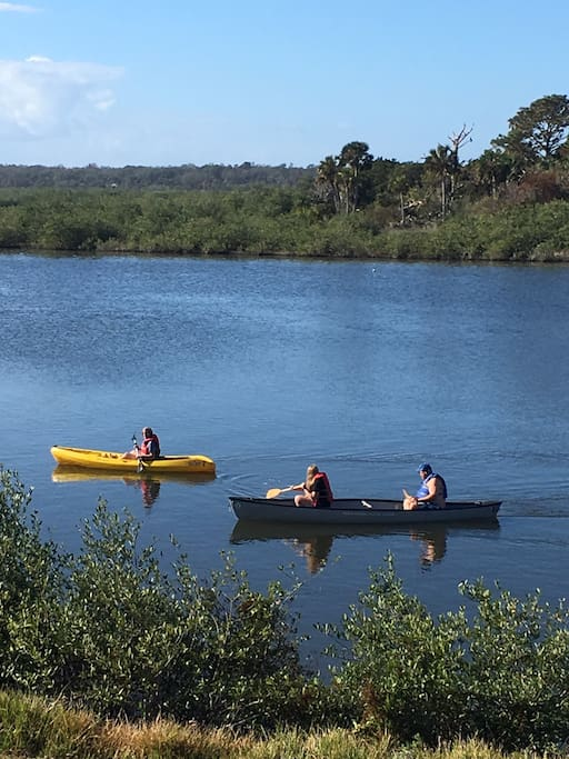 Gamble Rogers State Park is right next door to OPVN. You can even walk or ride bikes to the park to rent very affordable kayaks and canoes. Rentals start at $25. Call Gamble Rogers State Park for more info.
