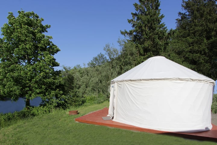 River Front Yurt #2 on Wilson River