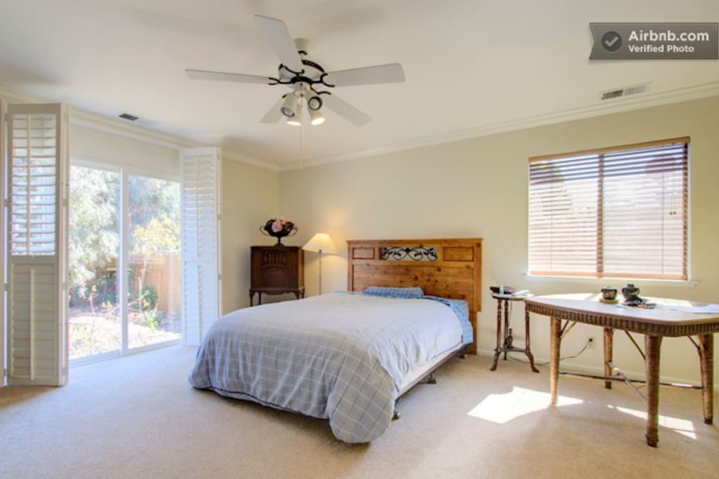 Master bedroom/bath is really large and sunny with queen bed and separated a nice distance from other bedrooms