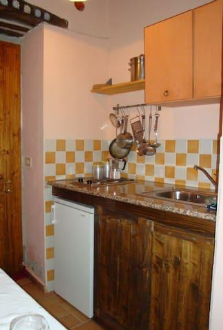 Mini apartment kitchen corner