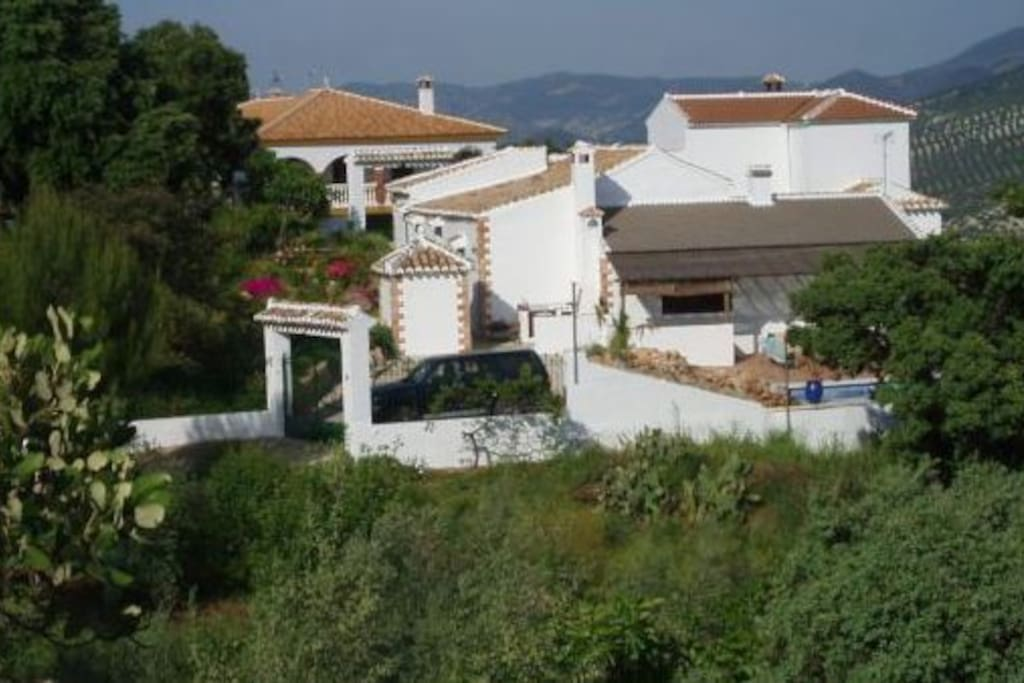Finca Brigadoon.The house is surrounded by gardens and the swimming pool.