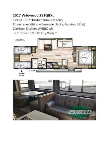 2017 Camper (bunk house) Like brand new...