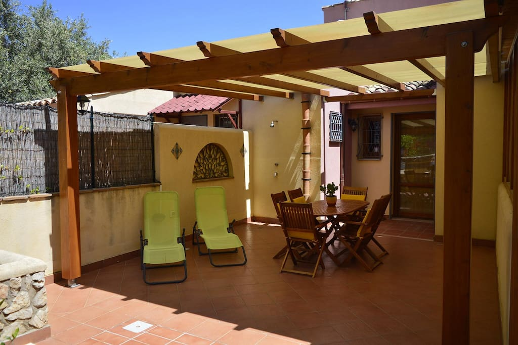 veranda VIlla Scopello