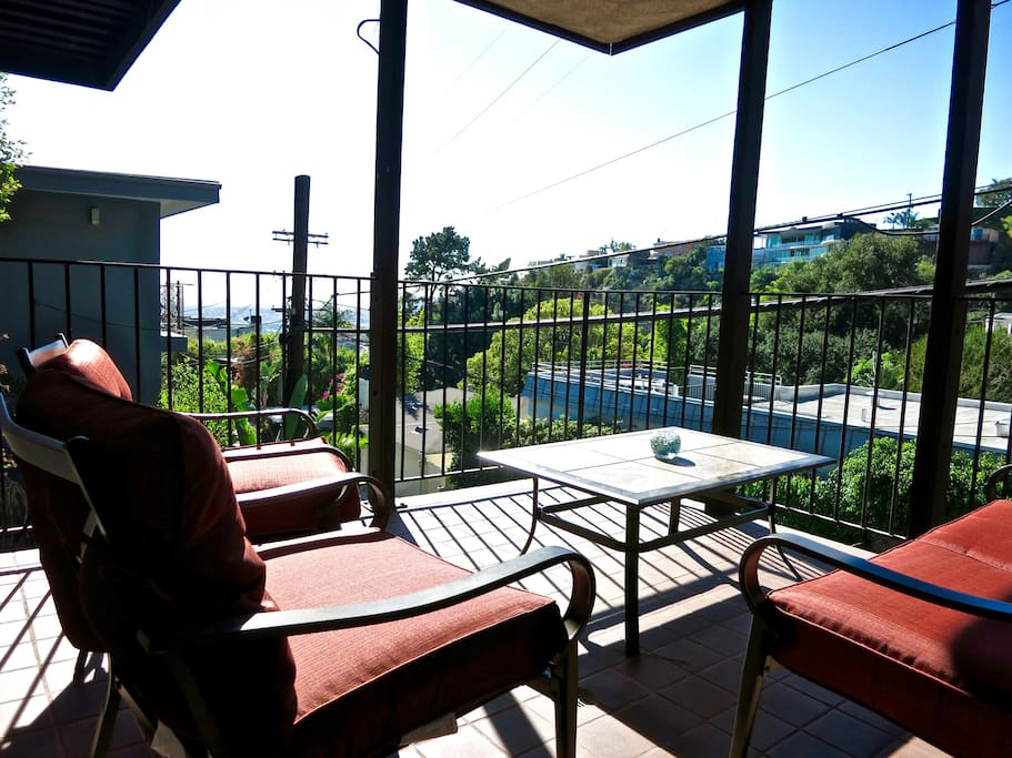 Private Patio with great views of Hollywood and Los Angeles