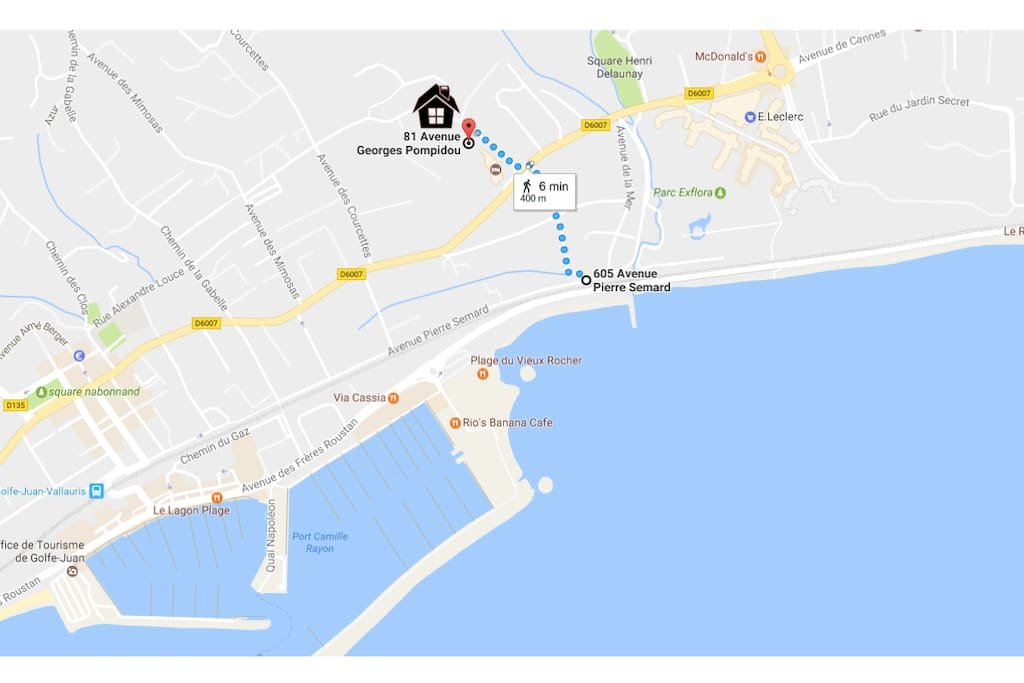 5 min walk from beach / 5 min des plages