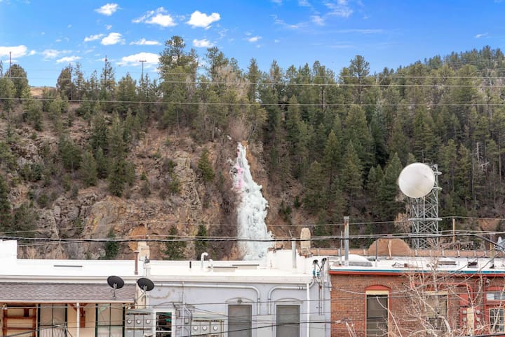 Bridal Veil Falls is visible from the windows above our dining table - urban nature.