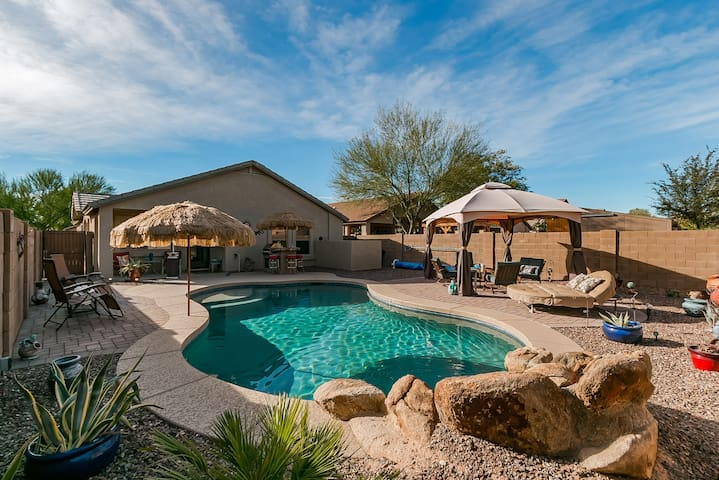*Resort style feel W/ private heated pool*