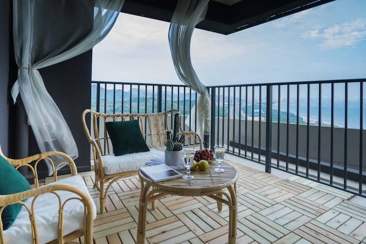 【SeaYoo】R6 保利度假无边海景 巨幕超 巨幕投影大阳台 公寓