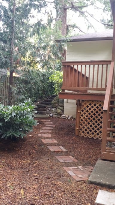 Granite Steps and Brick Walkway from Front of House