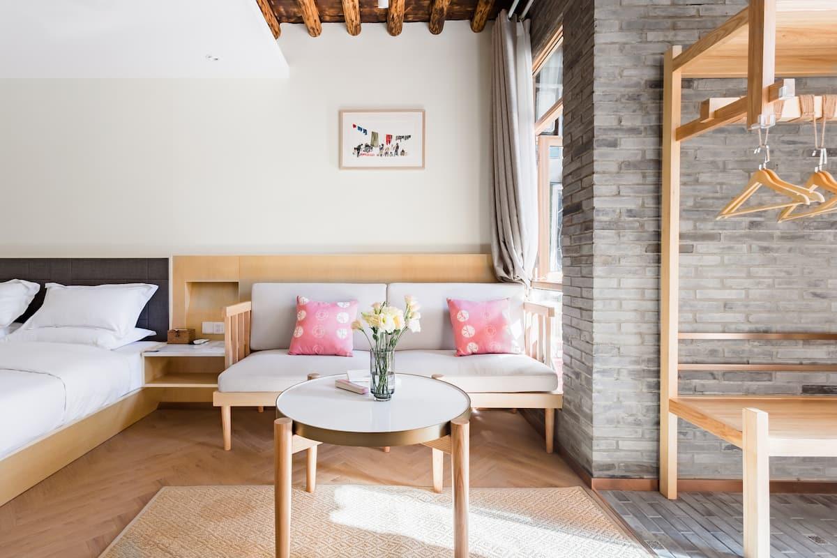 『万境故园』Airbnb 最佳房源设计奖丨轻奢草木大床房
