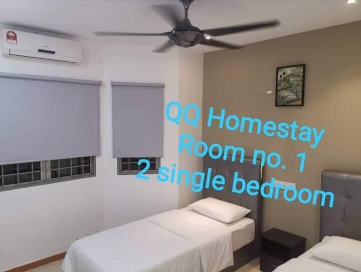 2人床位房间 Two Single Bed Room