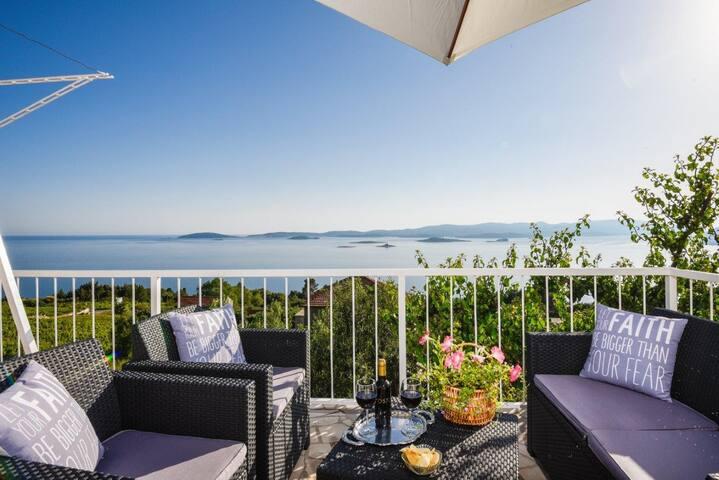 Orebić/Duplex/Sea view/Swimming pool/Garden/