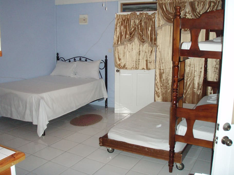 Ocean front self-contained suite with 4 beds and kitchenette