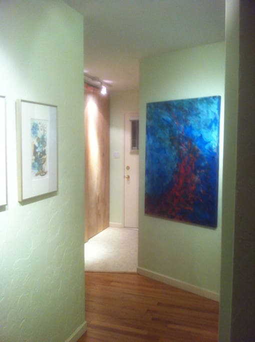 Original art by Victoria artists Bill Duckit, John O'Brien & Ron Legault (Hong Kong based Canadian artist) add to a very special environment.