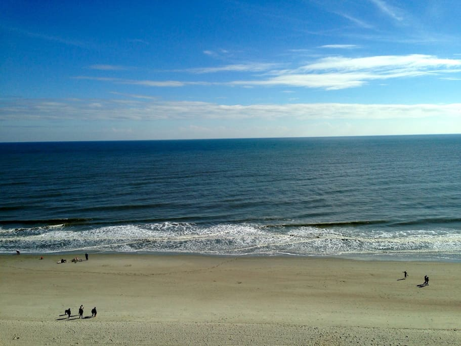 This is the INCREDIBLE View from the 9th Floor Oceanfront Balcony