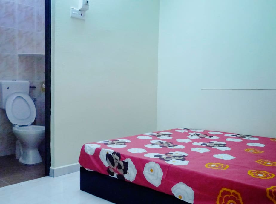 Room equipped with private washroom