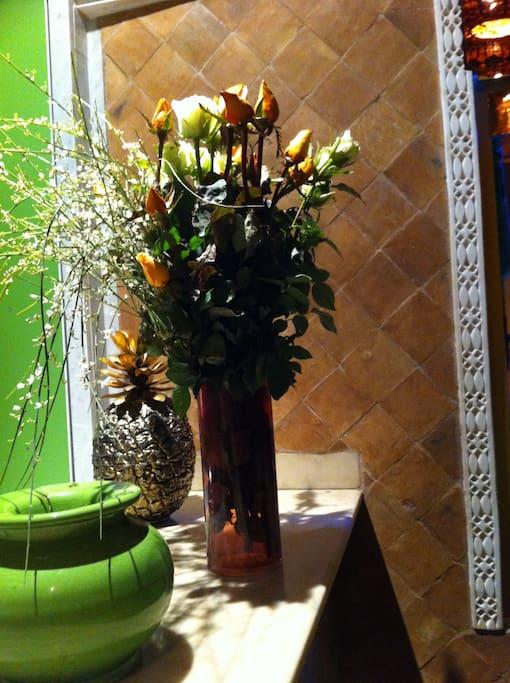 La beauté des Fleurs au Riad CharCam