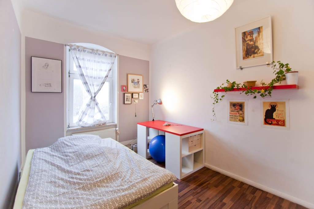 Bright spacious bedroom without balcony (looks a bit different now)