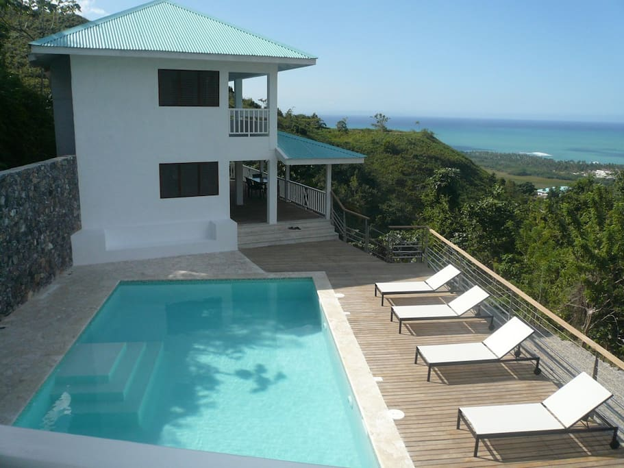 Your house, pool, sun deck and ocean view