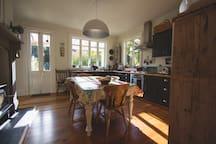 The sunny breakfast kitchen