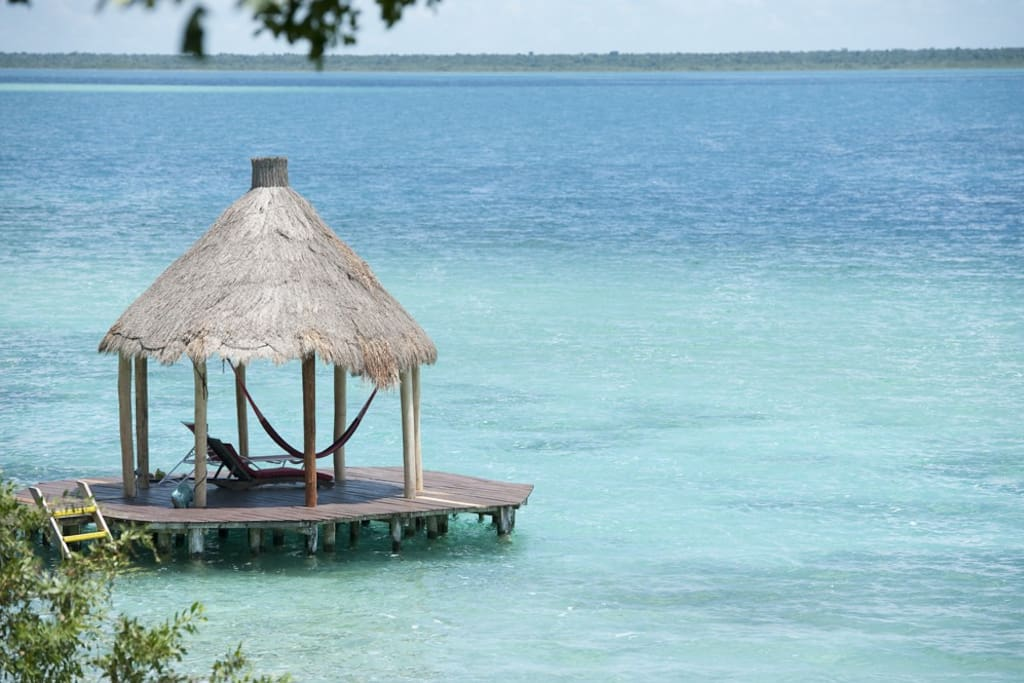 A nice palapa to chill on the lagoon