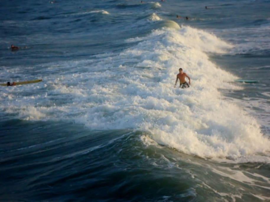 Surfer in Cocoa Beach