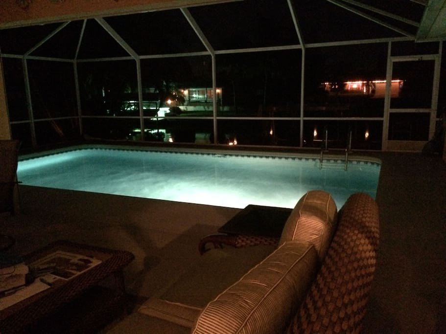 Enjoy the pool all day and all night.