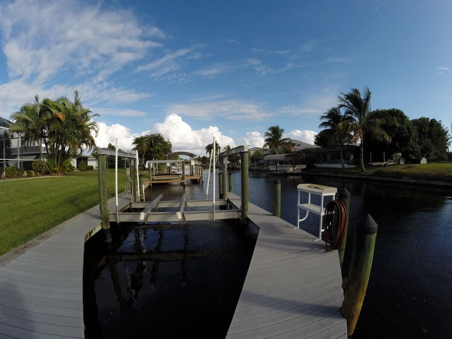 Gulf access with a dock and 2 boat lifts makes this a boaters paradise.