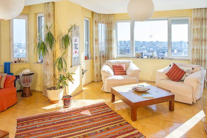 Spacious Light *Sea+MountainViews* Central Antalya - Antalya - Apartamento