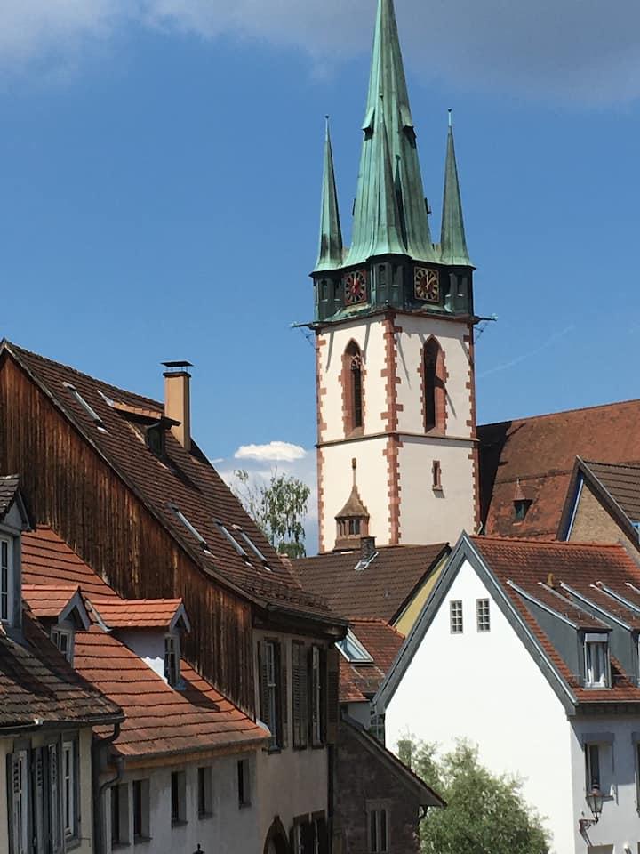 Herrlicher Blick auf die Durlacher Altstadt