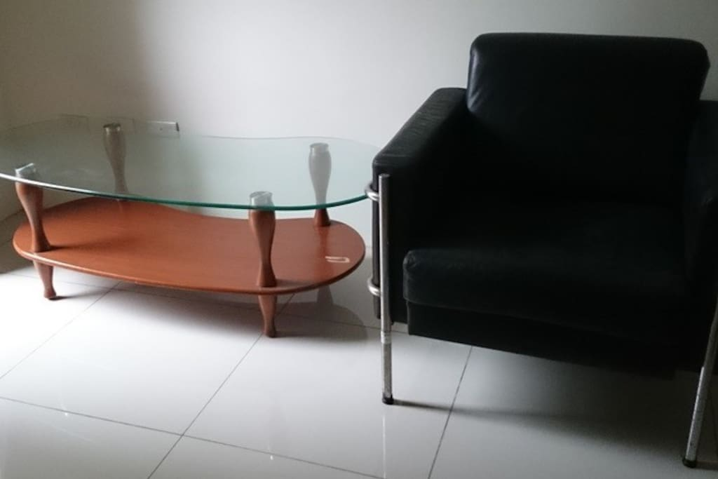 Sofa and tea table in the room