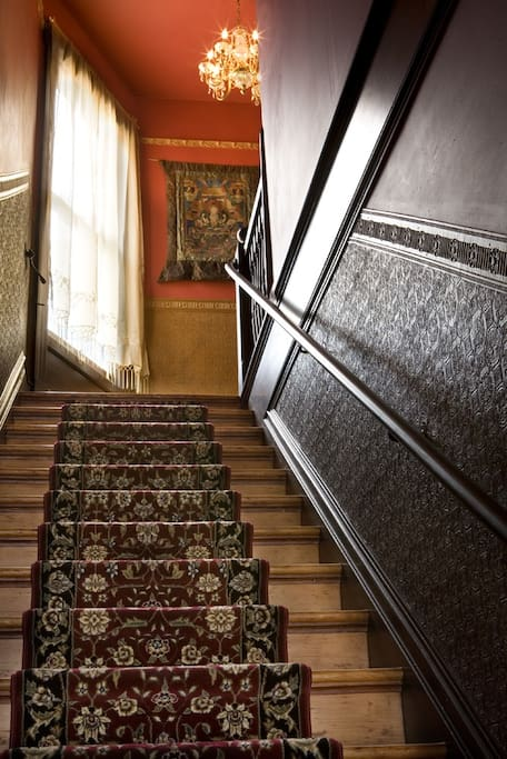 Stairs up to the apartment