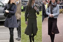 Kate Middleton on many visits to Cheltenham.
