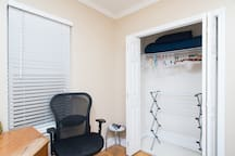 store your personal belongings in a 7.75ft x 5ft bedroom closet