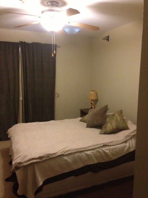 Fully furnished room, includes small desk, double closet, dresser, full length mirror (not pictured)