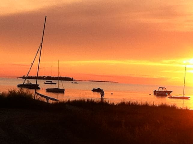You won't want to miss the sunset at Red Bay, on the Lake Huron side. The bay shines red with the perfect sunset.