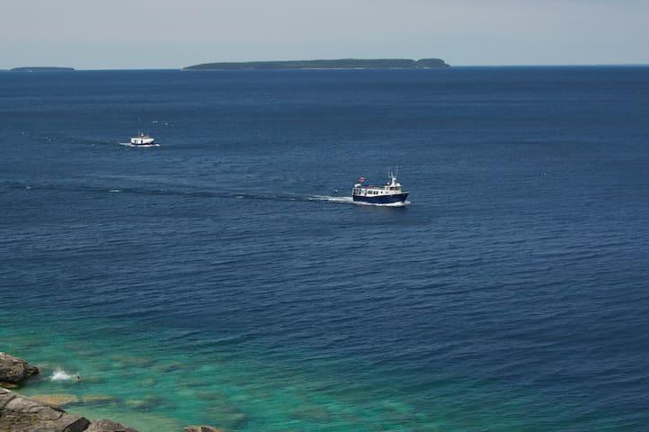 The beautiful blue-green waters of Georgian Bay.