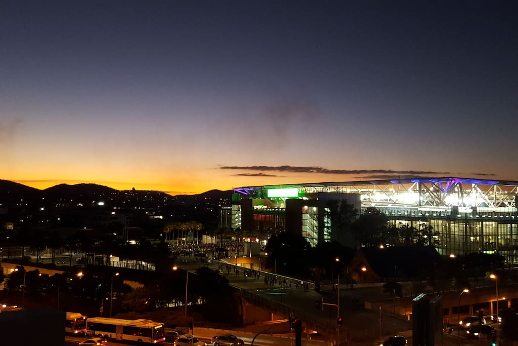 Sunset over Suncorp Stadium