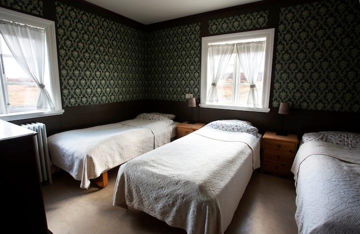 Lambalækur guesthouse, green room.