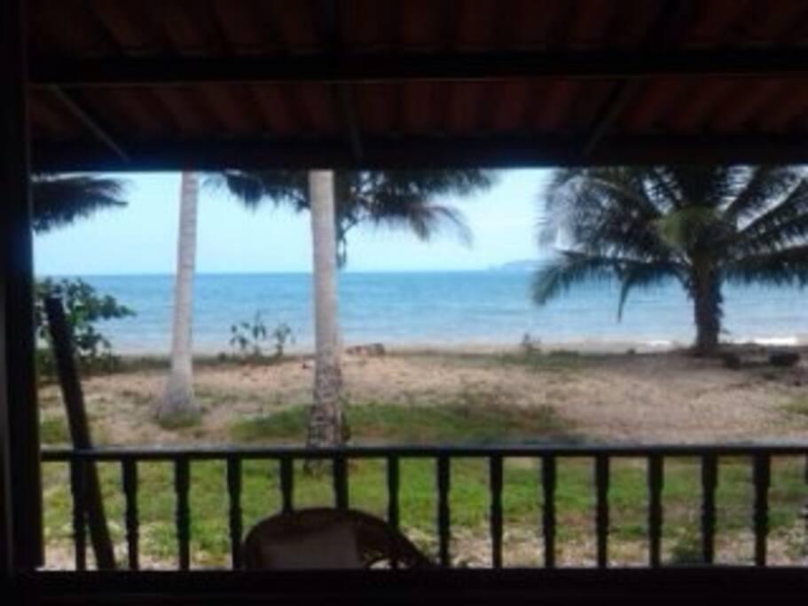 The beach is that far away.