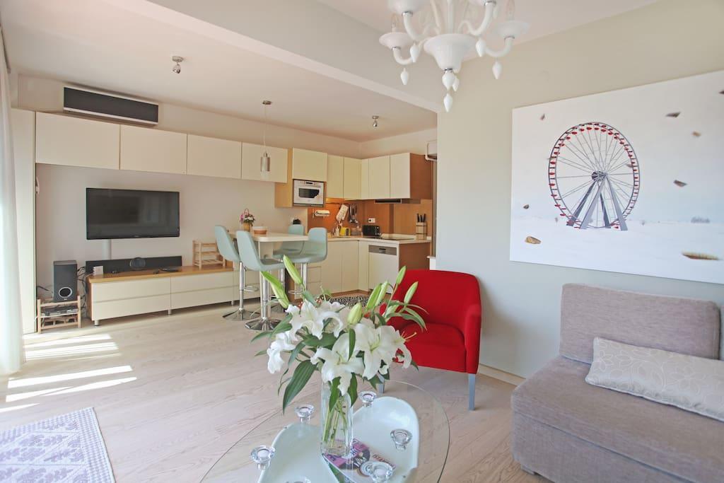 The luminous livingroom