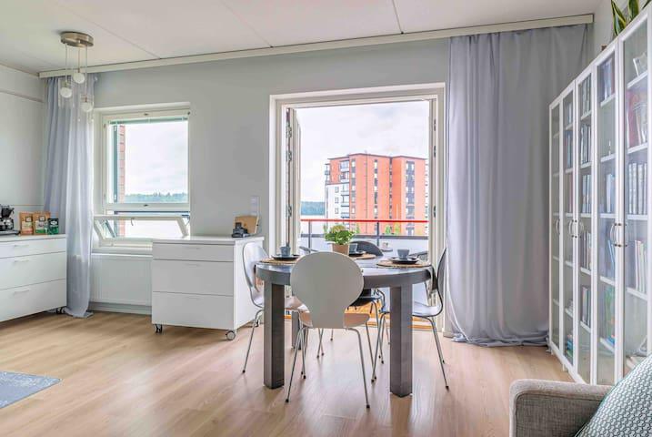 Light modern apartment by the Lake Saimaa