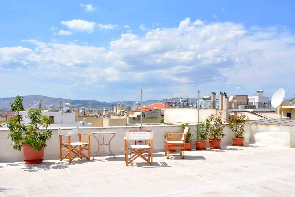 Enjoy the roof, when the sun gets down for a magical time in Athens