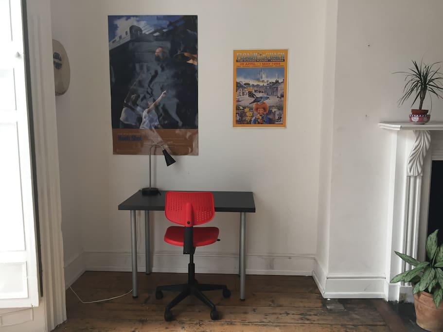 Comfortable working desk.