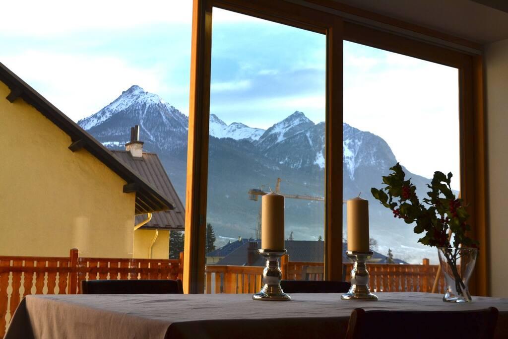 Romantic dining area.