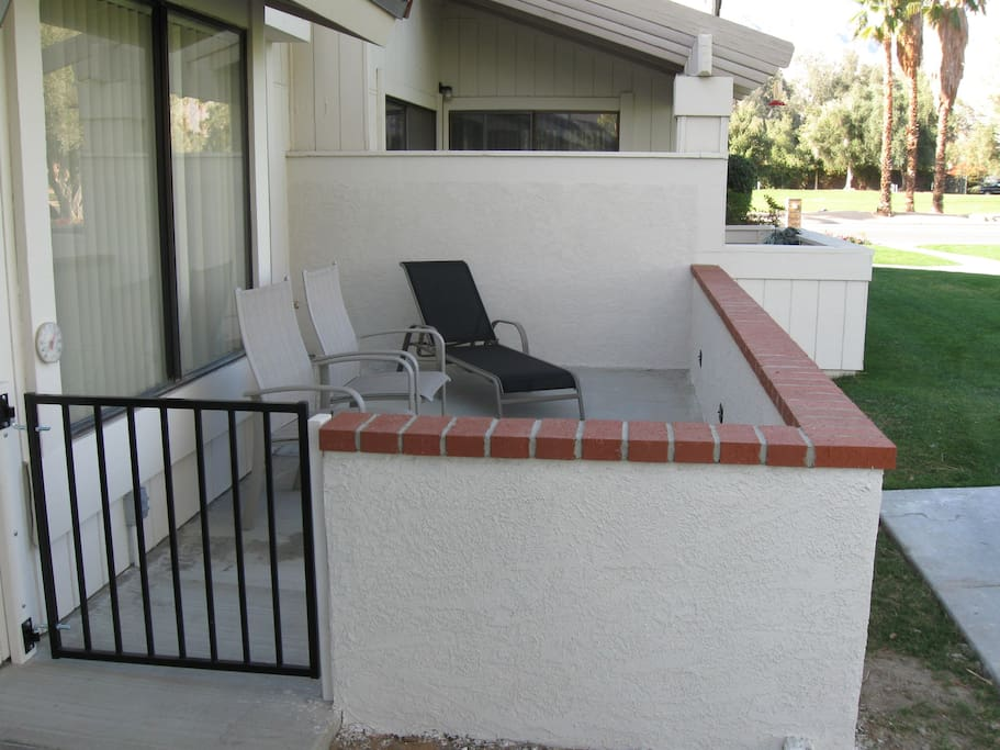 View the golf course from this patio!