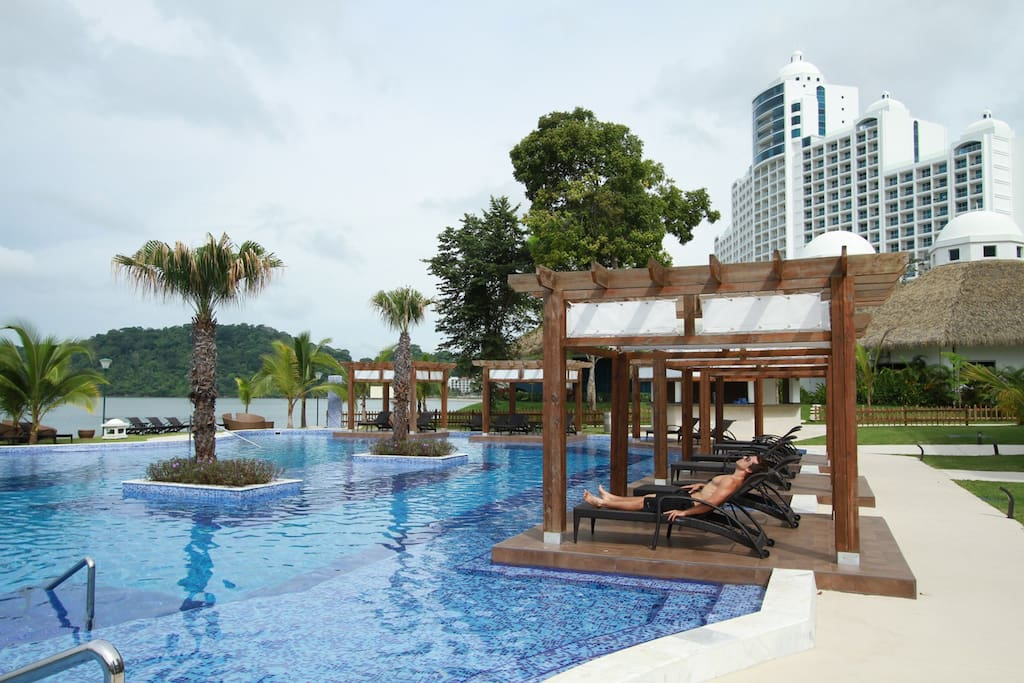The Pearl Club pool. This pool has private beach access.