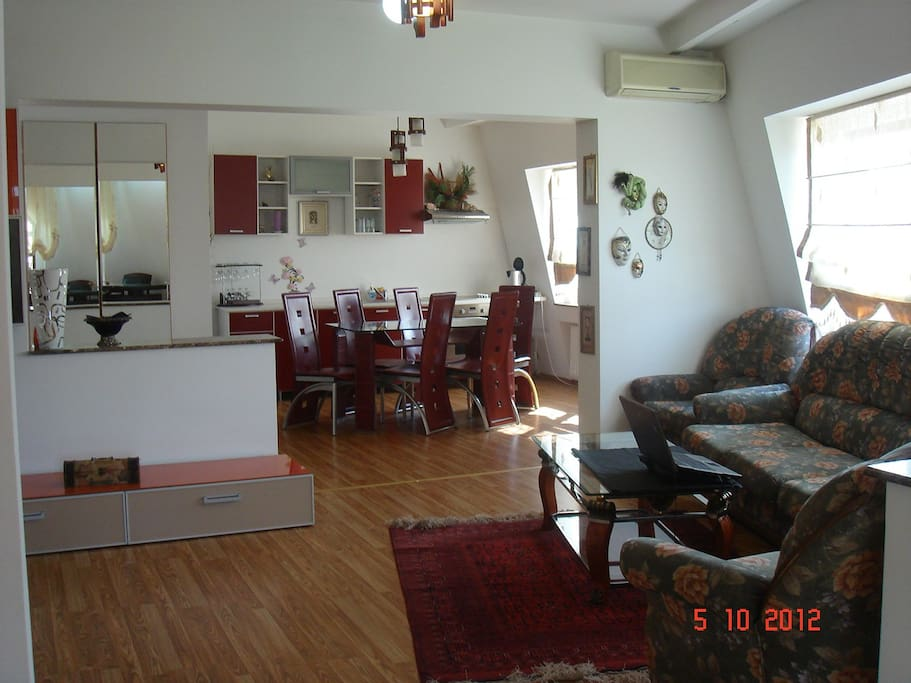 open space - living and dining room